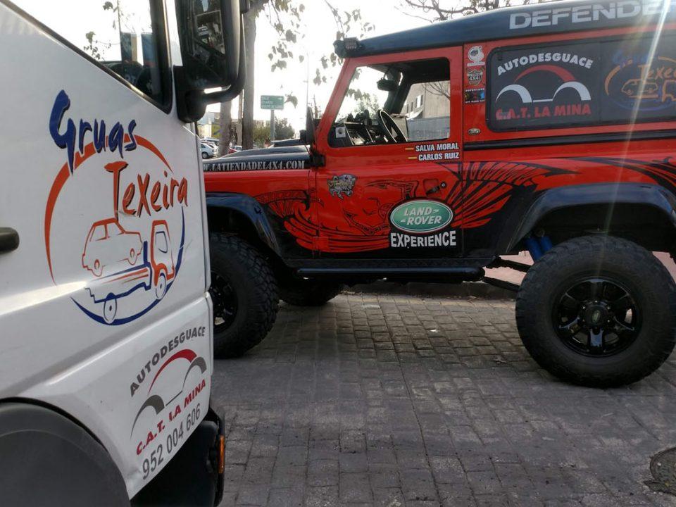 Land Rover Defender del equipo La Mina Extreme.