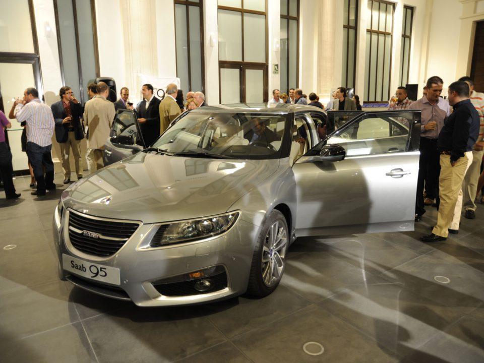 Presentación Saab 9-5 Museo Automovilístico de Málaga.