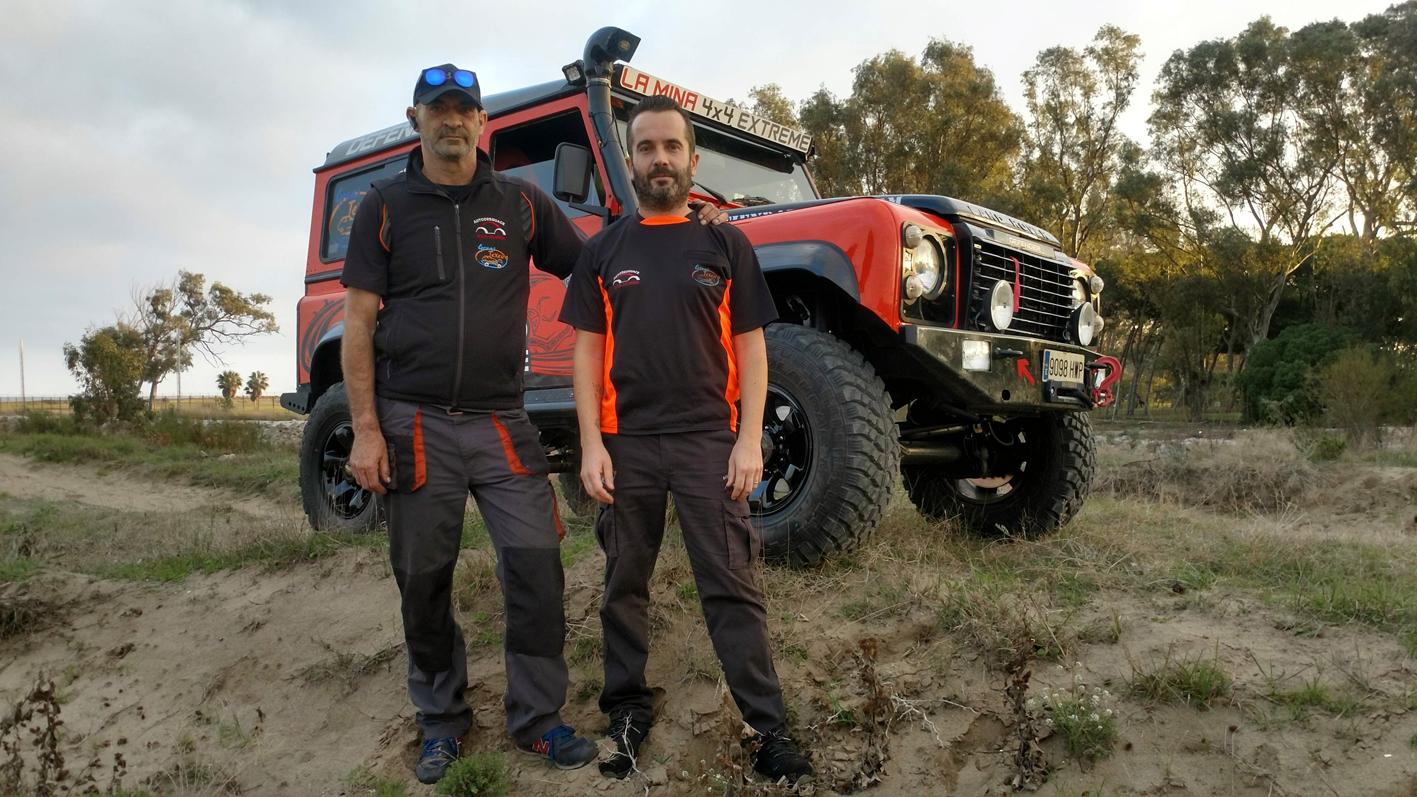 Salvador Moral y Carlos Ruíz, equipo La Mina 4x4 Extreme.